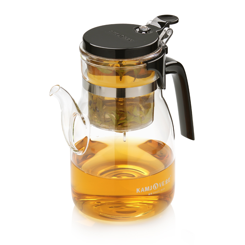 Kostenloser versand Kamjove k-208 tee tasse 900 ml tee topf elegante tasse glas tee-set glas tasse