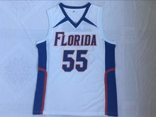a9278d855fe5 BONJEAN Mens Cheap Throwback Basketball Jerseys 55 Jason Williams White Jersey  Florida Gators College Retro Stitched Shirts