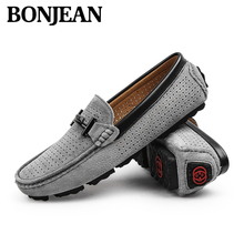 2019 New British Style Men Shoes Mesh Leather Loafers Flats Handmade Men Casual Shoes Non-slip Breathable Men Driving Lazy Shoes цена