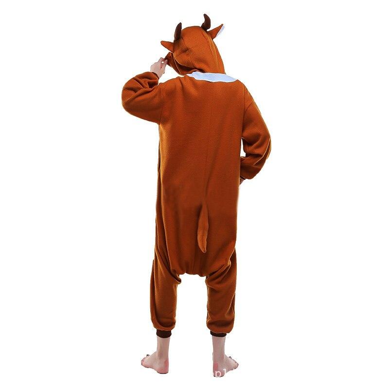 df0a1c04c6c7 Propitious Christmas Deer Pajamas Animal Winter Women Men Onesies Adult Reindeer  Kigurumi Cosplay Costume For party Sleepwear-in Anime Costumes from Novelty  ...