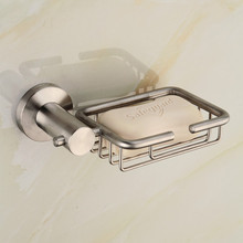 Usherlife 304 Stainless Steel Soap Dish Shower Soap Storage Basket Wall  Mounted Bath Holder Bathroom Accessories Sets