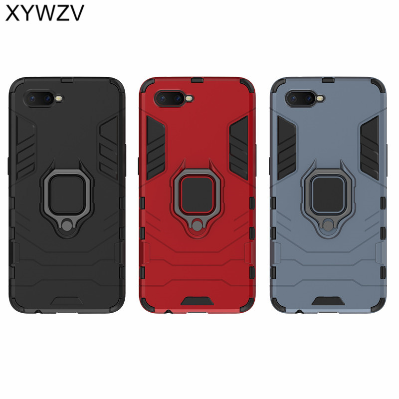 Image 5 - Armor Case OPPO RX17 Neo Silicone Cover Magnetic Metal Finger Ring Holder Case For OPPO RX17 Neo Hard Phone Case OPPO K1 Fundas-in Fitted Cases from Cellphones & Telecommunications