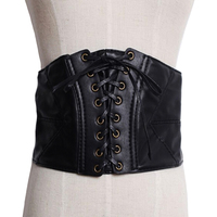 Cintos Femininos 2014 Vintage Punk Letter Gold Metal Sexy Belt Leather Luxury Brand Wide Belt Waist