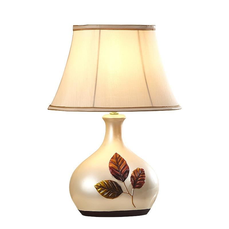 Европейский Сад Белый Настольная лампа спальня ночники гостиная декоративная настольная лампа гостиная свет стол za997
