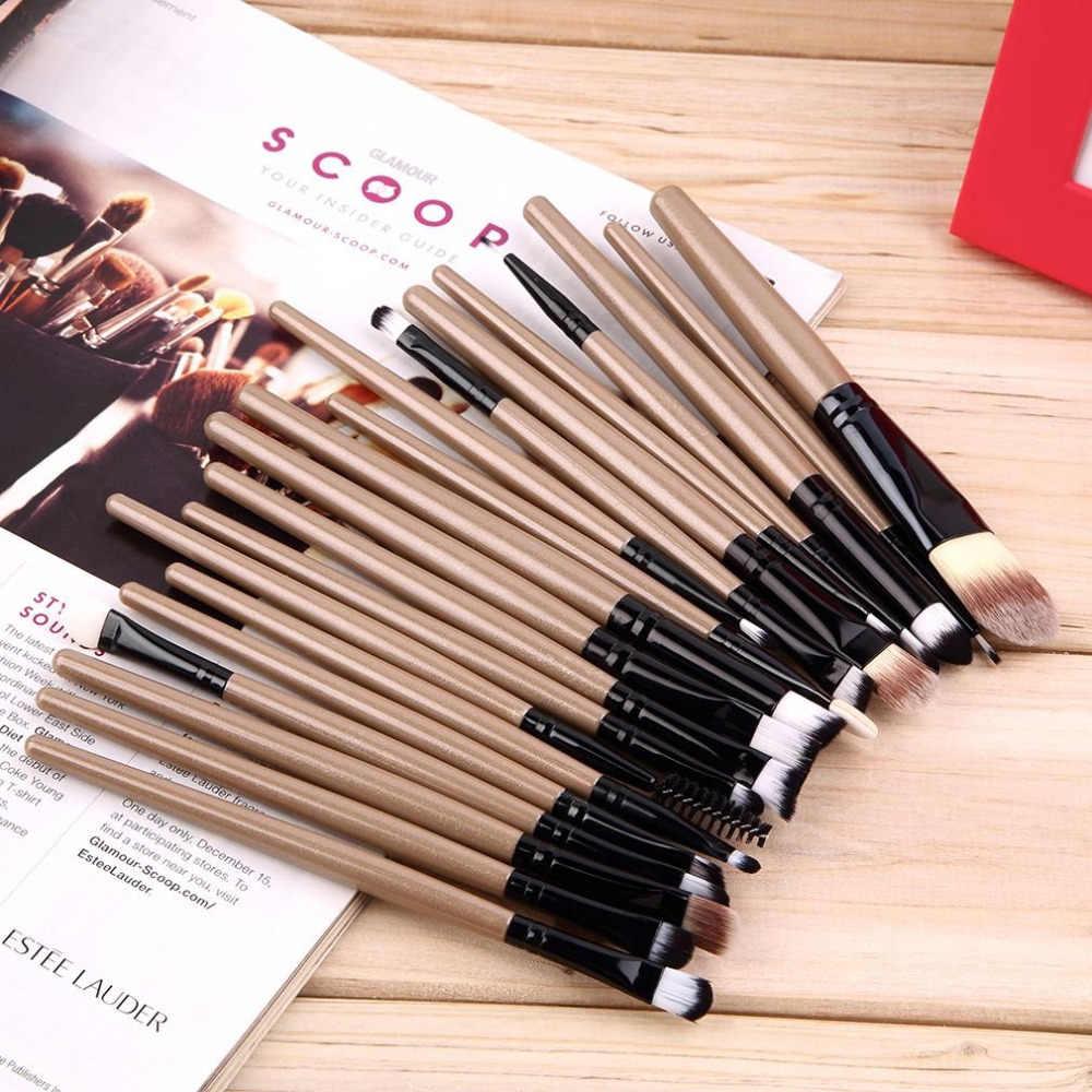 Beauty 20 stks/set Make-Up Kwasten Pro Blending Oogschaduw Poeder Foundation Ogen Wenkbrauw Lip Eyeliner Make up Kwast Cosmetische Tool