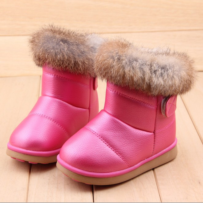 Mother & Kids Winter Girls Snow Boots Thicker Warm Plush Boots For Children Brand Kinder Snow Boots Comfortable Girl Baby Toddler Boots Children's Shoes
