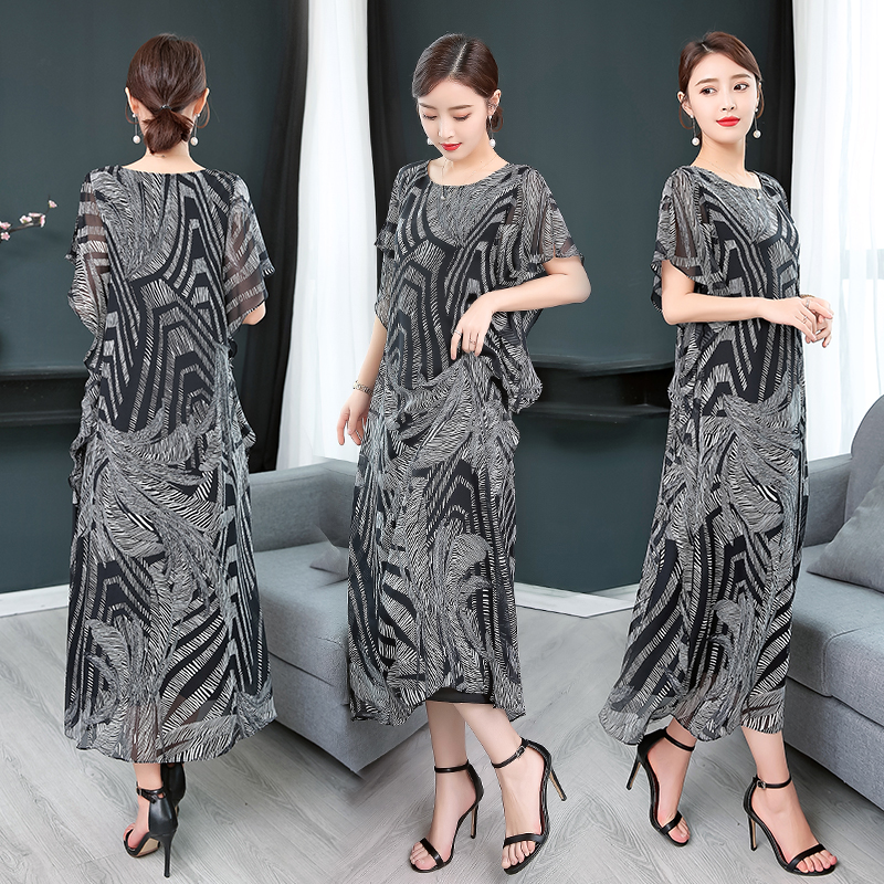Women's Clothing ... Dresses ... 32803289690 ... 3 ... 2020 Fashion Imitation Silk High Quality Summer Women Dress  Printed Retro Dress Chinese Style Loose Casual Sleeveless Plus Size ...
