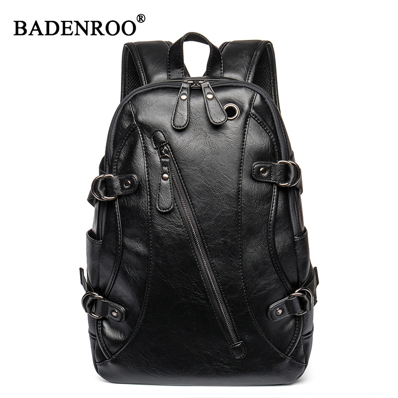 Men Backpack 2019 New fashion men traveling backpacks PU Leather High capacity Business  bag student Multi-functional backpackMen Backpack 2019 New fashion men traveling backpacks PU Leather High capacity Business  bag student Multi-functional backpack