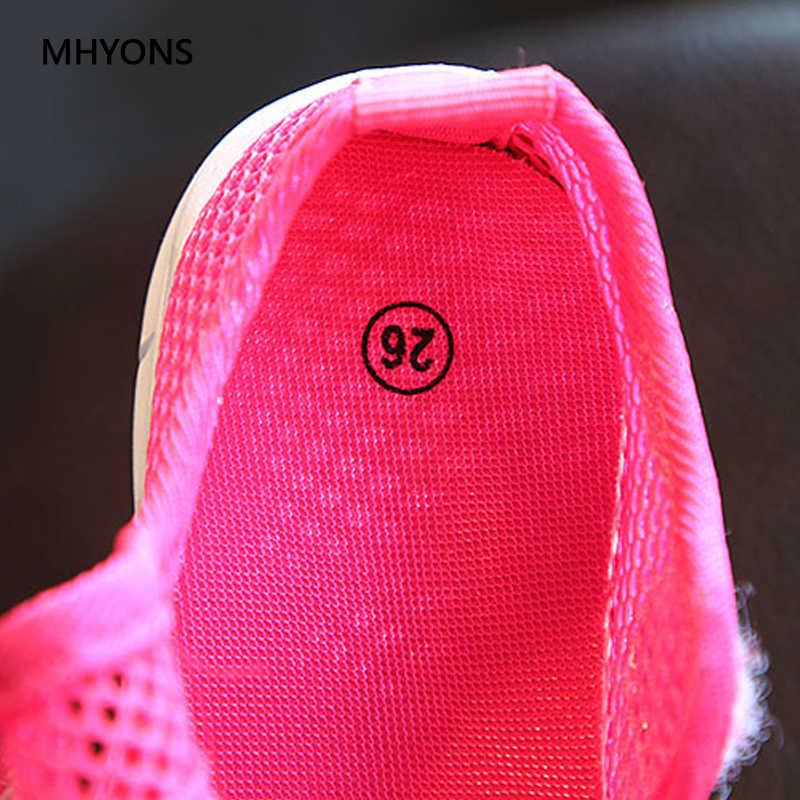 MHYONS 2019 ใหม่รองเท้าเด็กฤดูร้อนเด็กลื่นรองเท้าแฟชั่นรองเท้าแตะ Multicolor เจ้าหญิงรองเท้าแตะรองเท้าผ้าใบ