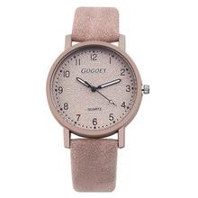 2018 Gogoey Лидирующий бренд Для женщин часы Мода наручные часы Для женщин часы кожаный ремешок женские часы saat Баян коль saati relojes