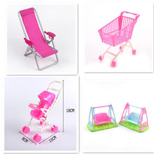 Princess Stroller Cart For BJD Reborn Girl Doll Accessories Furniture Gadgets Interesting Toys Girls Gift(China)