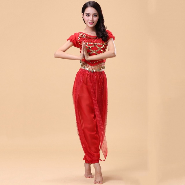 Sexy Belly Dance Suits For Ladies Multi Color Plus Size Standard Fringe  Pants Fitness Indian Stage Tango Ballroom Costumes Q3092 edbfd878a6f1