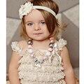 Горячие продажи летние детская одежда Установить петти кружева ползунки девушка мода младенческая малышей ползунки набор