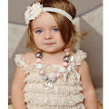 Hot sale summer baby clothes Set petti lace romper girl fashion infant toddler romper set