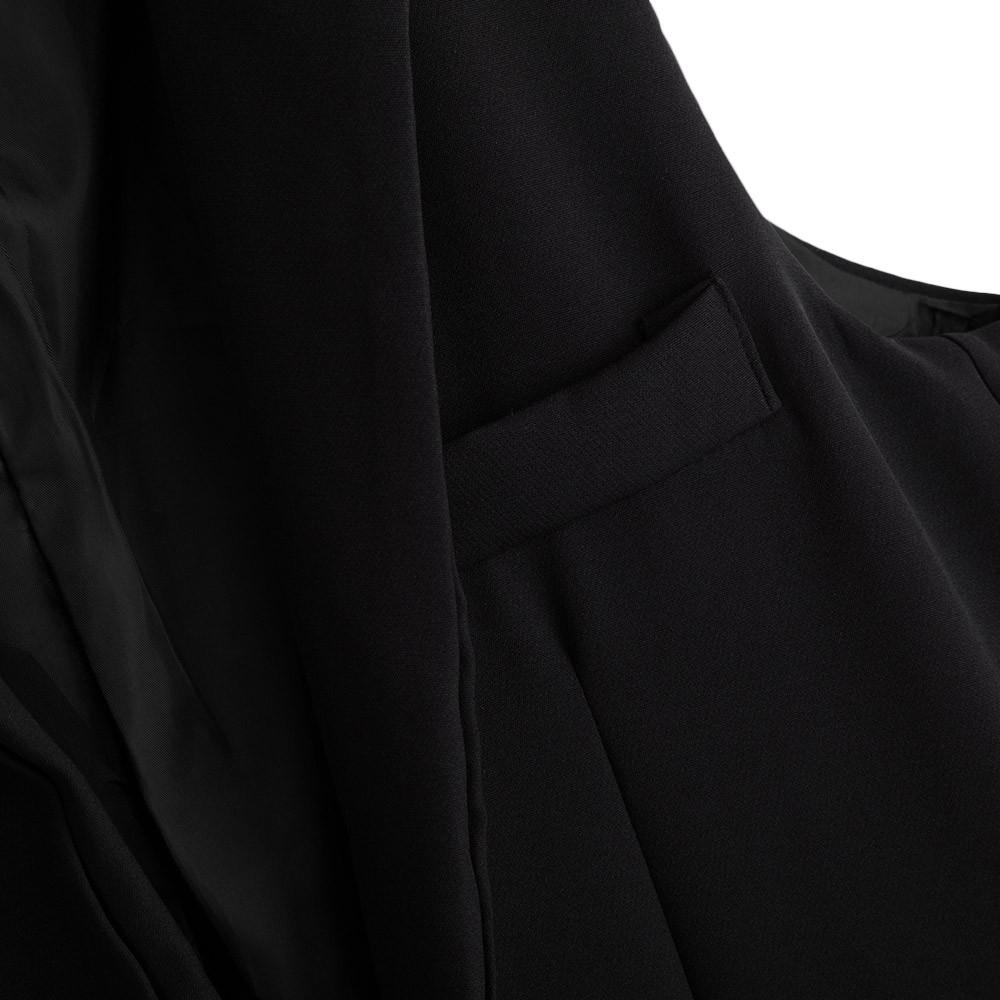 AZULINA 2016 Kobiet Jesień Marynarka Kobiet Białe Czarne Kobiety Garnitur Długi Sweter Marynarka Kamizelka Bez Rękawów Kurtka Płaszcz 16