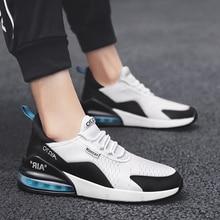 2019 мужские Сникеры на воздушной подушке, модная повседневная обувь, мужские трендовые дышащие кроссовки, легкая воздушная шнуровка, мужская обувь унисекс