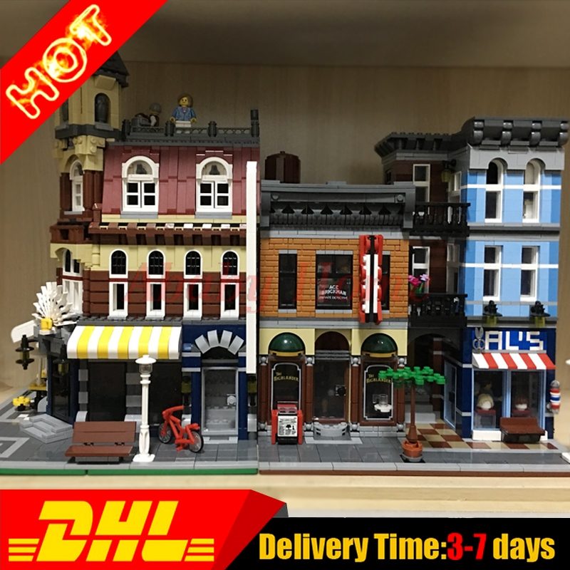 LEPIN 15011 Detective's Office +15002 Brick Bank Model Building Kits Blocks Bricks Toys For Children Gift Clone 10182 10246