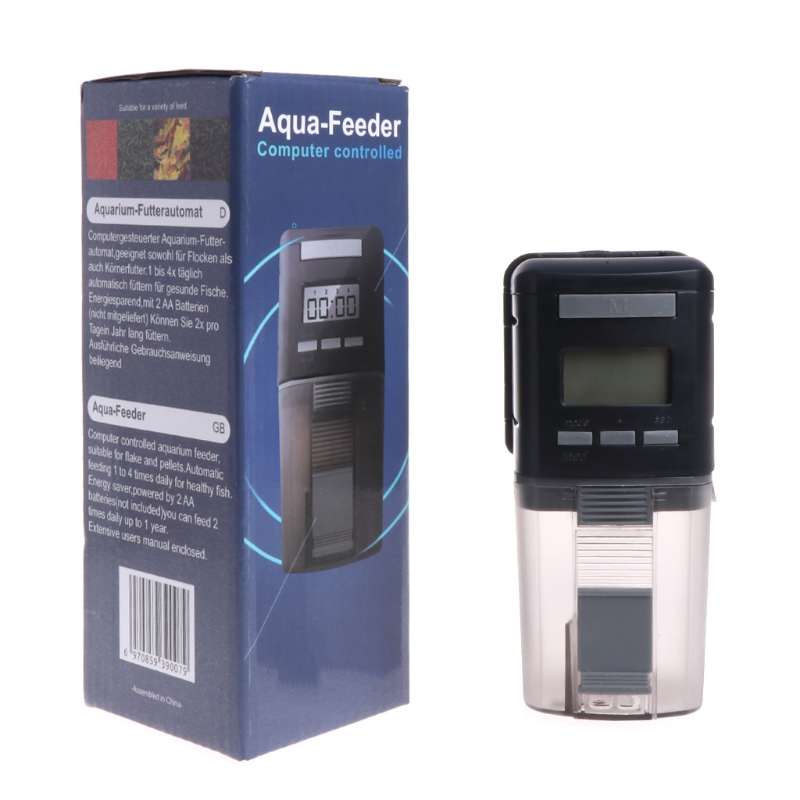 Automatic Fish Feeder Aquarium Tank 4 Time Digital Food Feeding Rotate Dispenser