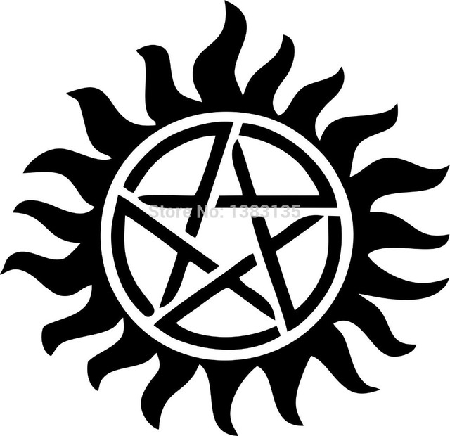 Hot Sale Supernatural Anti Possession Pentagram Car Sticker For