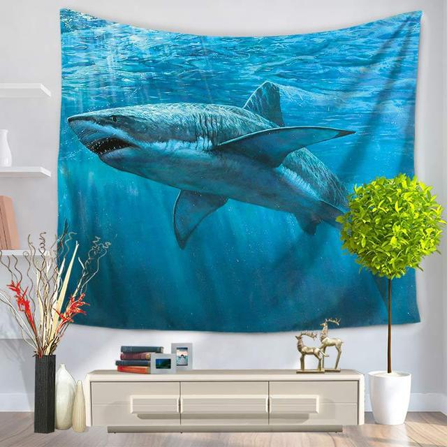 Shark Print Wall Tapestry 5