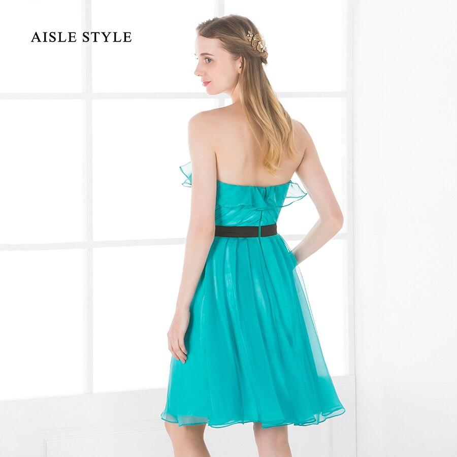 Aisle Style Knee Length Beach Wedding Bridesmaid Dress Short ...