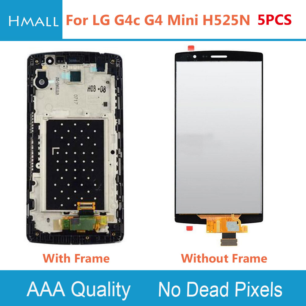 5 PCS For LG G4c G4 Mini H525N LCD Display +Touch Screen with Digitizer +Frame Assembly Replacement For LG G4c H525N LCD Black