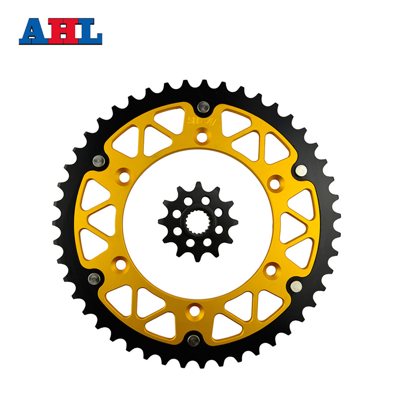Motorcycle Parts 47-12 Front&Rear Sprockets Kit for SUZUKI RM-Z250 RMZ250 RM-Z RMZ 250 2007-12 RM125 1987-11 Gear Fit 520 Chain