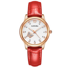 Simple Business Quartz Leather Belt Butterfly decoration Watch for Women Student Watch Female Fashion & Casual Chronograph цена и фото