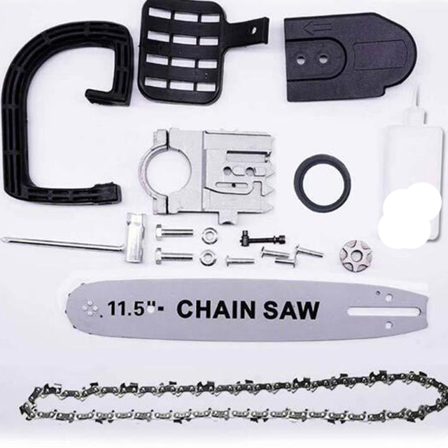 Prostormer Electric Saw 11.5 Inch Chainsaw Bracket Set For M10 Angle Grinder To Chain Saw Woodworking Power Tool 3