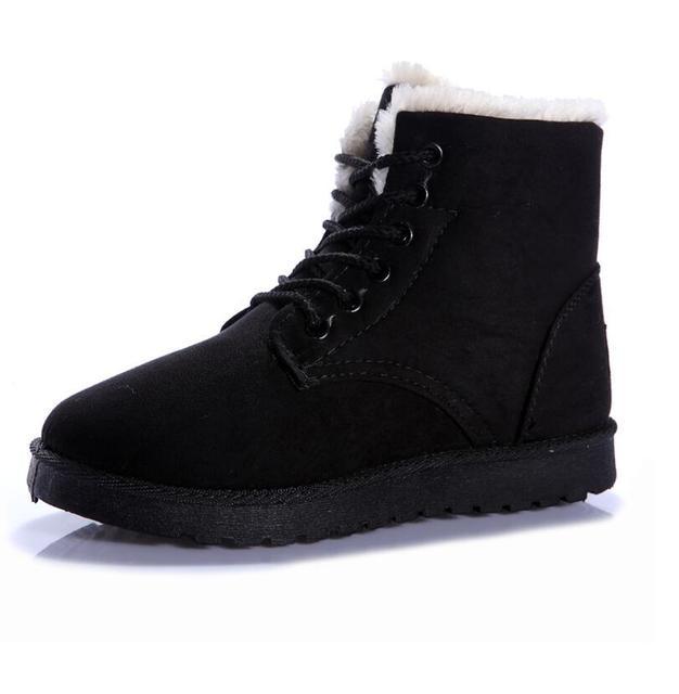 2017 Зима новый женской моде ботинки снега нескользящей теплые плюс кашемир Мартин сапоги женские плоским дном сапоги 5 цветов