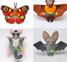 Bat doll flying object Fabric Felt kit Non-woven cloth Craft DIY Sewing set Felt Handwork Material DIY needlework supplies(China)