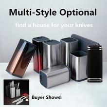Xyj столовые приборы, кухонный держатель для ножей, принадлежности для хранения ножей из нержавеющей стали, подставка для ножей, большая емкость, многофункциональное место для хранения