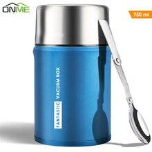 Onme 750Ml Thermos Voor Voedsel Grote Thermosflessen Lunchbox Geïsoleerde Soep Pap Doos Outdoor Koffie Mokken Thermosflessen