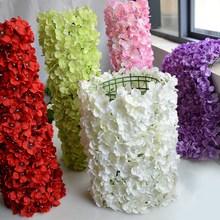 5 шт. 60×40 см искусственная Гортензия панно Цветы Свадебный фон украшения Место декор с цветами поддельные цветы