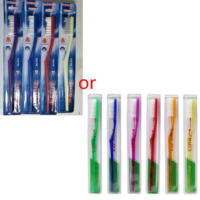 6x Nano Dental Care Premium Harte Zahnbürste Borsten Zahn Pinsel Set Für Erwachsene
