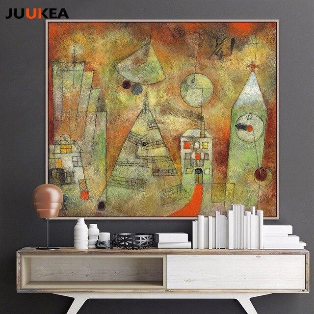Artiste Paul Klee Structures Gomtriques Paysage Art Peinture  L
