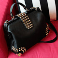 2015 Hot rivet women bags leather handbags in women messenger bags shoulder bag free shipping