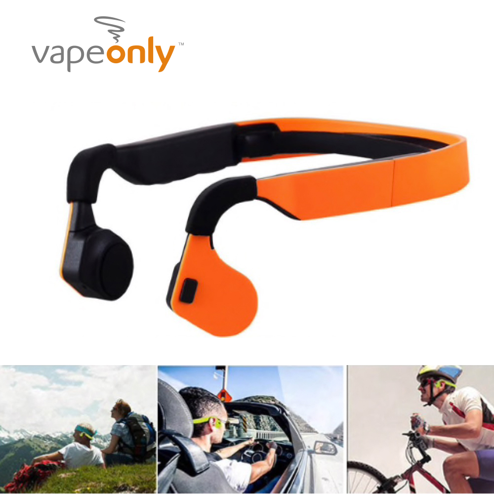 Vapeonly casque à conduction osseuse Sans Fil casque bluetooth Sport En Plein Air Casque Stéréo écouteurs Mic Microphone