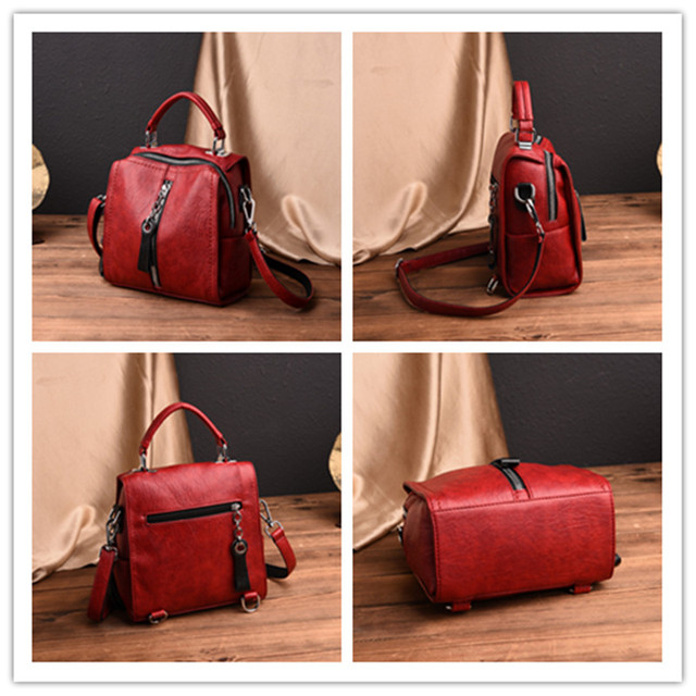 Glorria Luxury Cow Leather Handbags Women Bags Designer Fashion Shoulder Crossbody Bag for Women Multifunction Bag Big Tote Sac 3