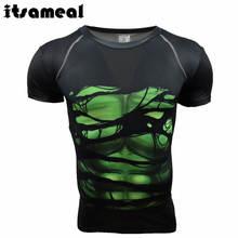Itsameal Men's T-shirts 3D Printed Hulk Style of The Marvel Avengers Short Sleeve Fitness Raglan for Male