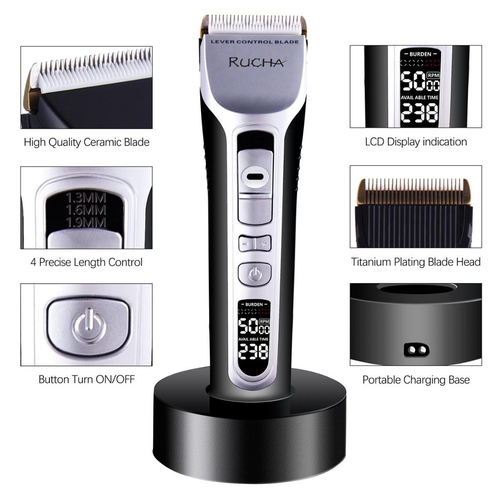 RUCHA Barber Electric Hair Clipper Rechargeable