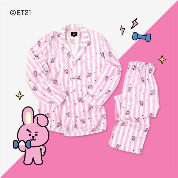34d67bc01 ... Kpop Pyjamas BTS Bangtan Boys BT21 Cute Cartoon Tata Rj Chimmy Cooky  Koya Printed Women Sleepwear ...