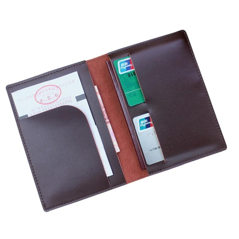 Designer Men Leather Travel Passport Covs