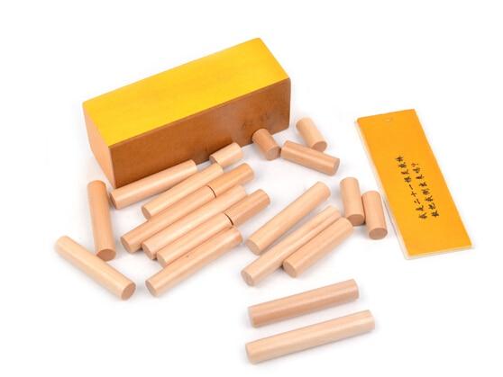 Candice guo Montessori Wooden toy wood block Intelligence game how put 21pcs stick into box birthday gift christmas present set prado s 11 r белая черная