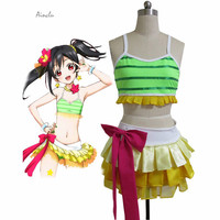 Ainclu Free Shipping Love Live! Yazawa Niko Swimsuit Cosplay Costumes For Halloween Customize for plus size adults and ki