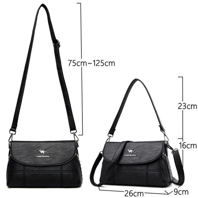 Luxury White Women Messenger Bags Female Leather Handbags Small Crossbody Bag For Women Shoulder Bags Famous Brand Designers New 3