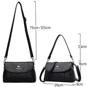 Image 3 - Luxury White Women Messenger Bags Female Leather Handbags Small Crossbody Bag For Women Shoulder Bags Famous Brand Designers New