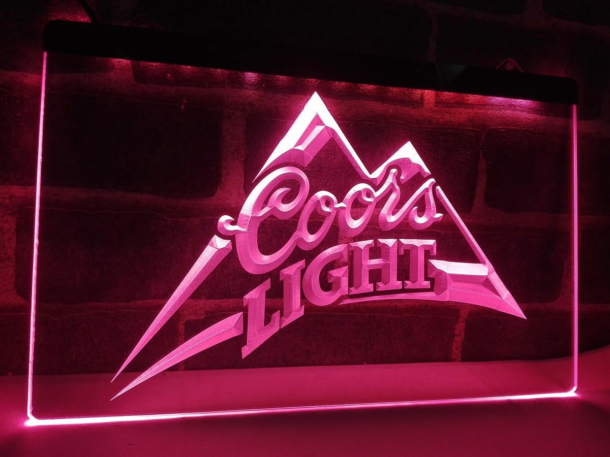 LA004 Coors Light Beer Bar Pub Logo LED Neon Light Sign