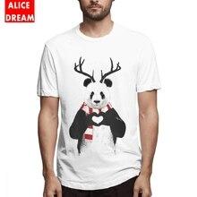 2019 New Arrival Hot sale T shirt Xmas Panda Tee Graphic Print Camiseta Organic Cotton S-6XL Plus Size Tshirt леггинсы бордо с принтом vinous ethnic collection organic panda organic panda 42 44