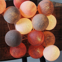 20Pcs Lot Cotton Led Christmas Ball String Lights XMas Decoration Lighting Weeding Party Decoration Light For